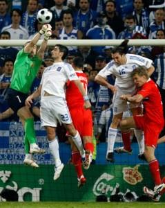 В матче против Греции на Евро-2008.